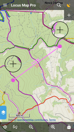 Manualuserguidefunctionsmeasure Locus Map Knowledge Base - Map route distance tool